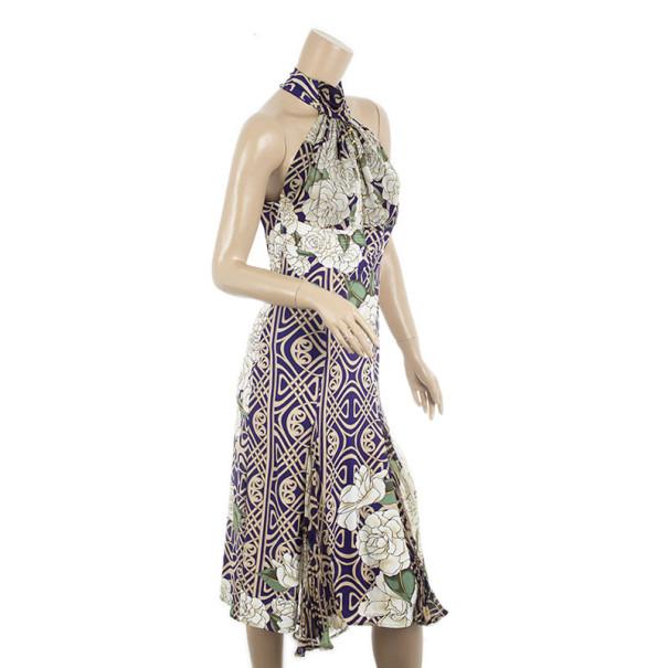 Roberto Cavalli Halterneck Cocktail Dress L