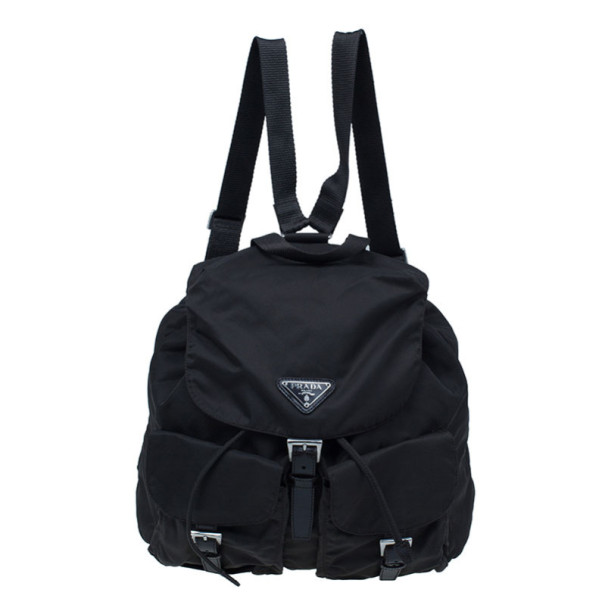 Prada Brown Tessuto Nylon Backpack
