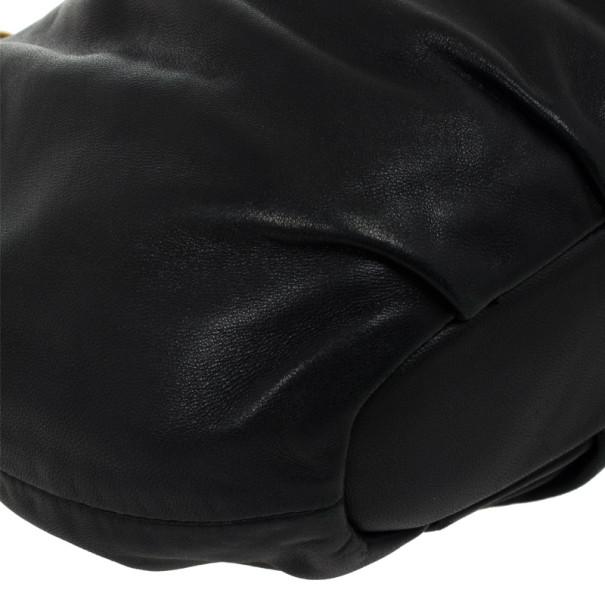 Prada Black Large Soft Calf Hobo