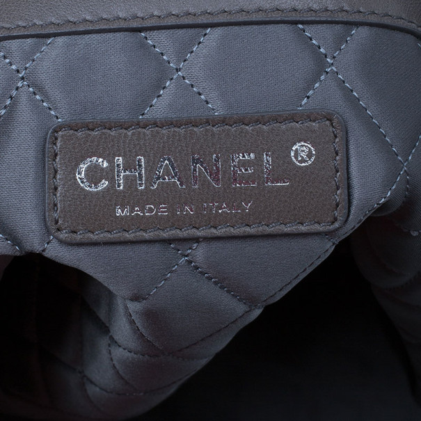 Chanel Black CC Leather Quilted Tote
