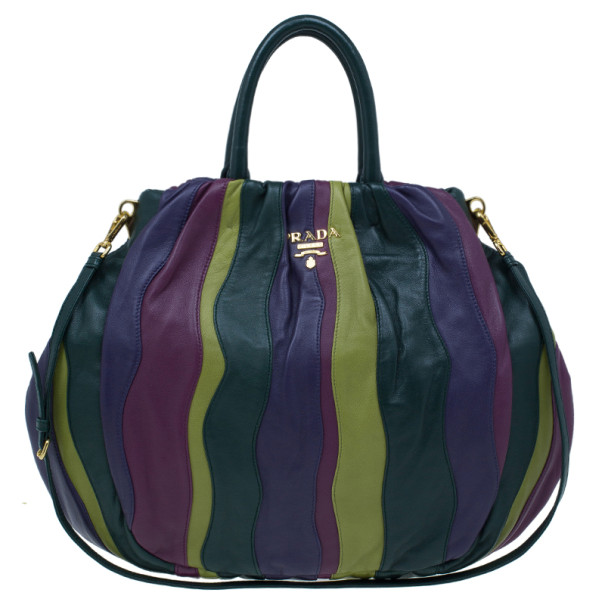b40ba6b6226 order prada tote shoulder bag brown leather new bd8de 1b6e0  coupon code  buy prada multicolored nappa stripes tote 9959 at best price tlc 3d471 d6fe7