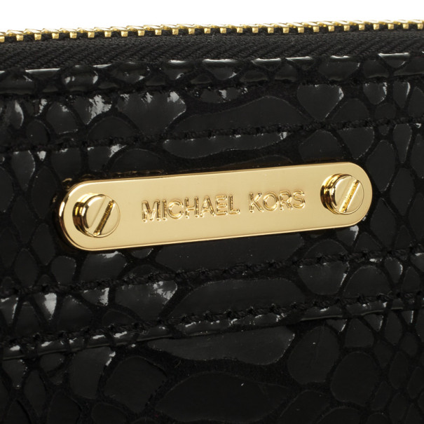 MICHAEL Michael Kors Moxley Python Continental Zip Around Leather Wallet