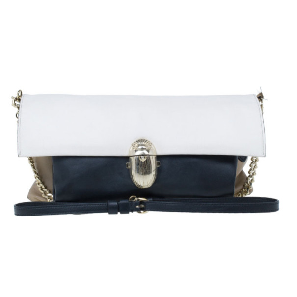 Christian Louboutin Khepira Tri-Color Clutch