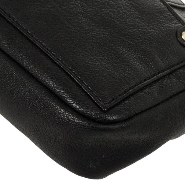 Marc by Marc Jacobs Black Preppy Camera Buffalo Leather Crossbody Bag