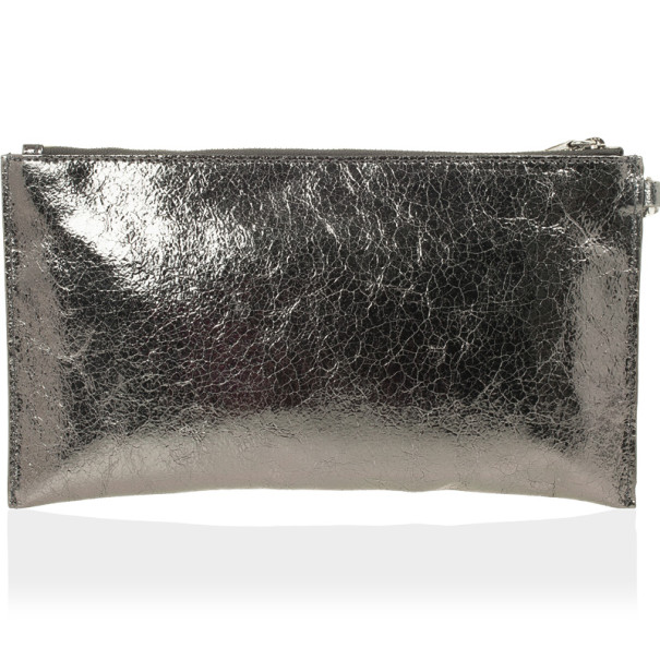 MICHAEL Michael Kors Large Jet Set Crinkled Metallic Clutch