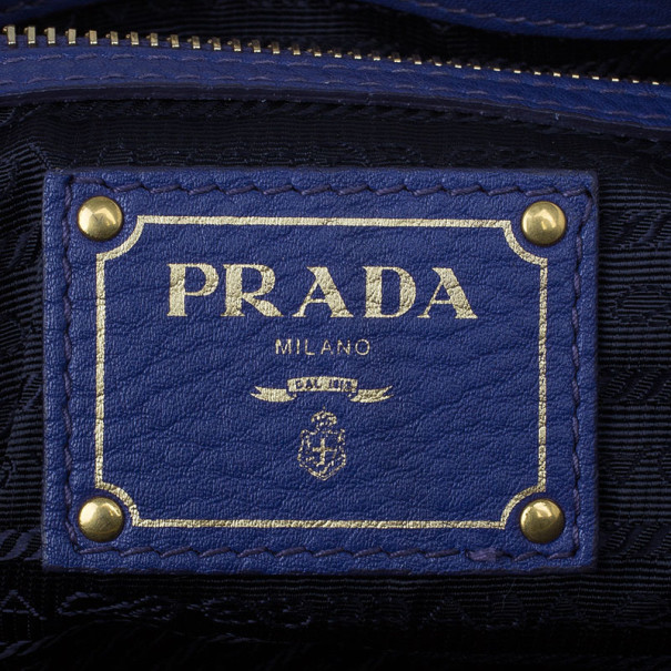 Prada Purple Vitello Daino Zip Tote
