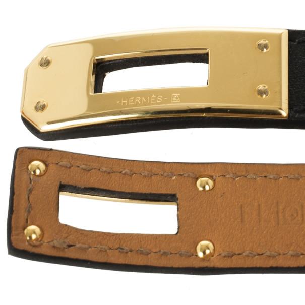 Hermès Kelly Double Tour Leather Bracelet