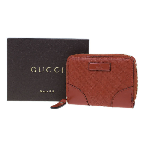 Gucci Bright Orange Compact Leather Wallet