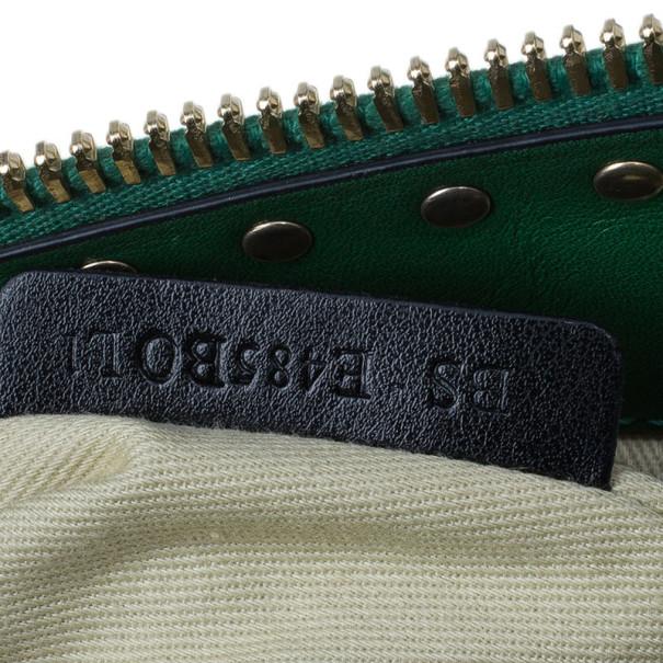Valentino Green Leather Rockstud Boston