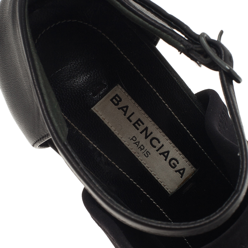 Balenciaga Black Rubberised Neoprene Glove Sandals Size 38