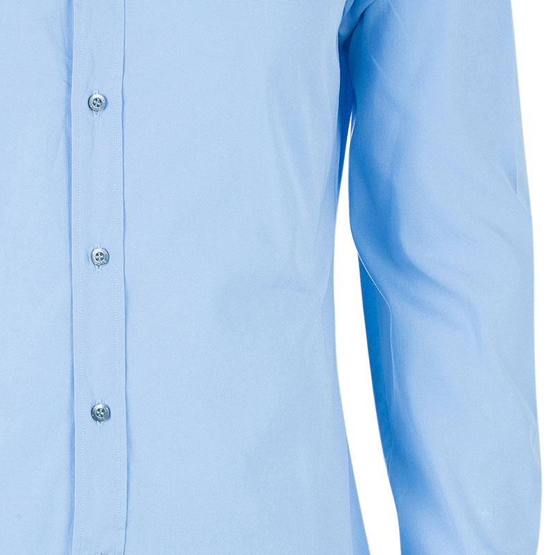 Gucci Men's Light Blue Cotton Shirt L