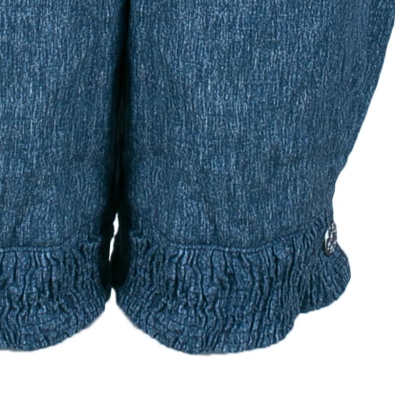 Chanel Blue Linen Long Shorts M
