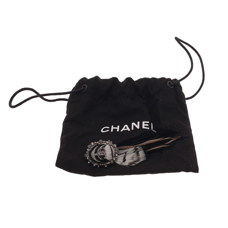Chanel Feather Hair Clip