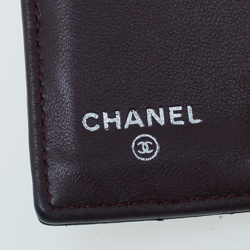 Chanel Black Quilted Lambskin Flap Wallet