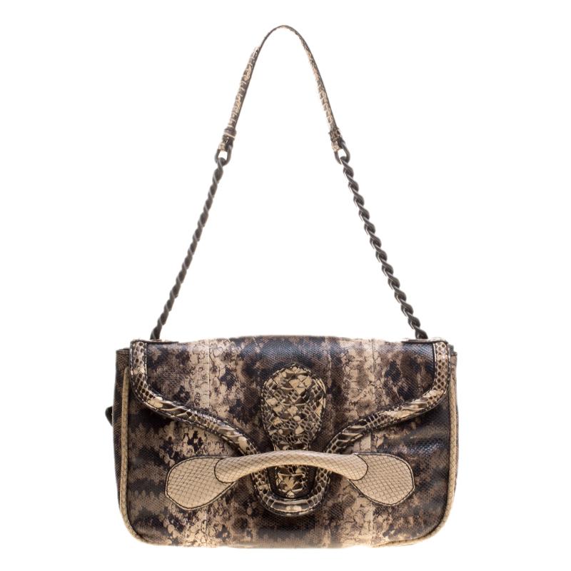 7bbc16339d9 ... Intrecciato Leather Shoulder Bag  huge selection of 296ae c43dd ... Bottega  Veneta Multicolor Lizard and Python Elaphe Rialto ...