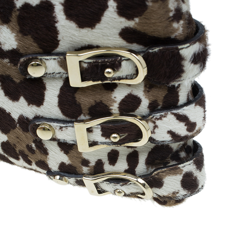 Jimmy Choo Animal Print Pony Hair Bolero Chain Clutch