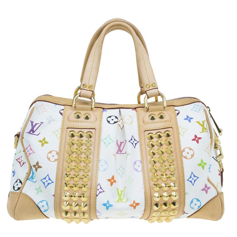 Louis Vuitton White Monogram Multicolore Courtney MM Bag