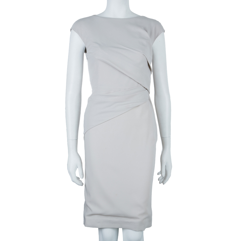 Gucci Neutral Draped Front Dress S