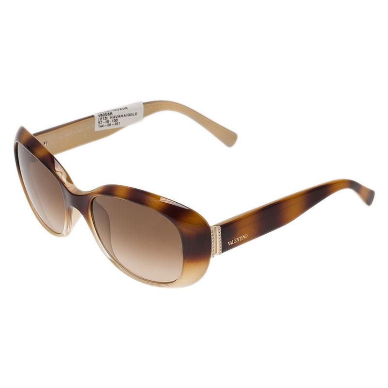 Valentino Beige V620SR Oval Sunglasses