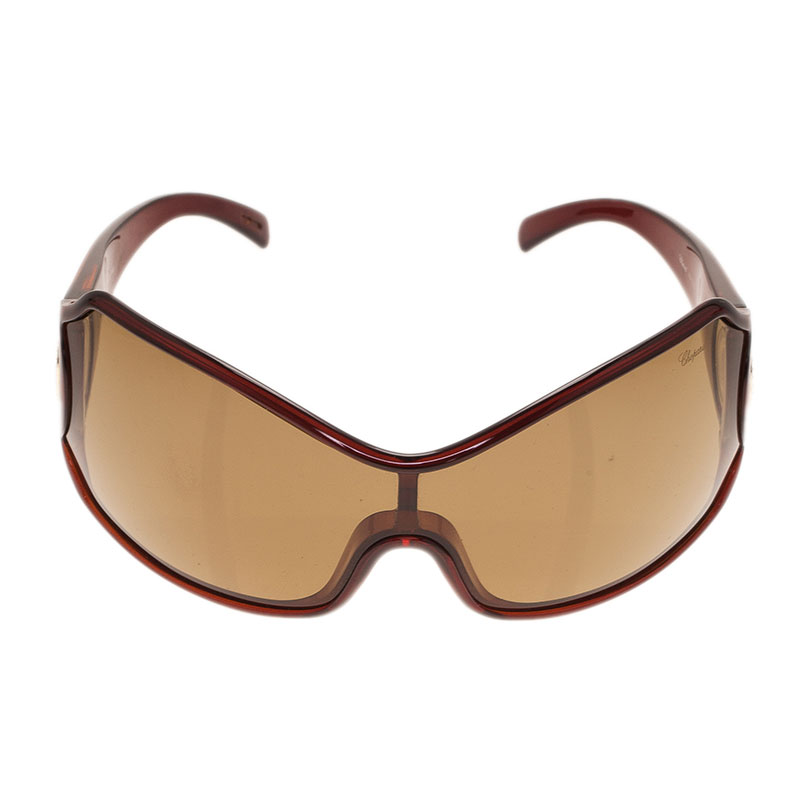 Chopard Brown SCH0125 Shield Sunglasses