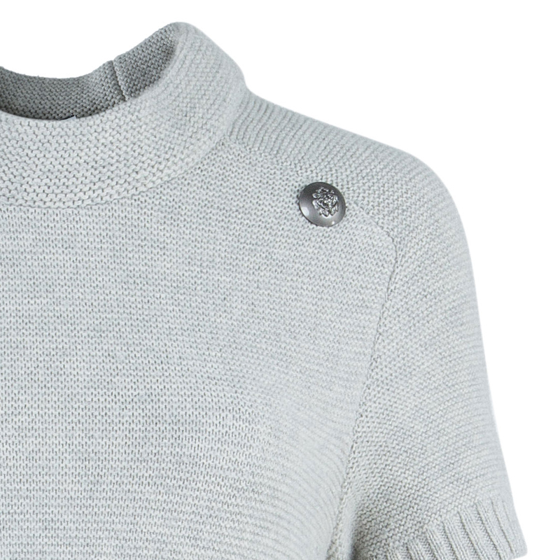 Chanel Grey Cashmere Sweater Dress M