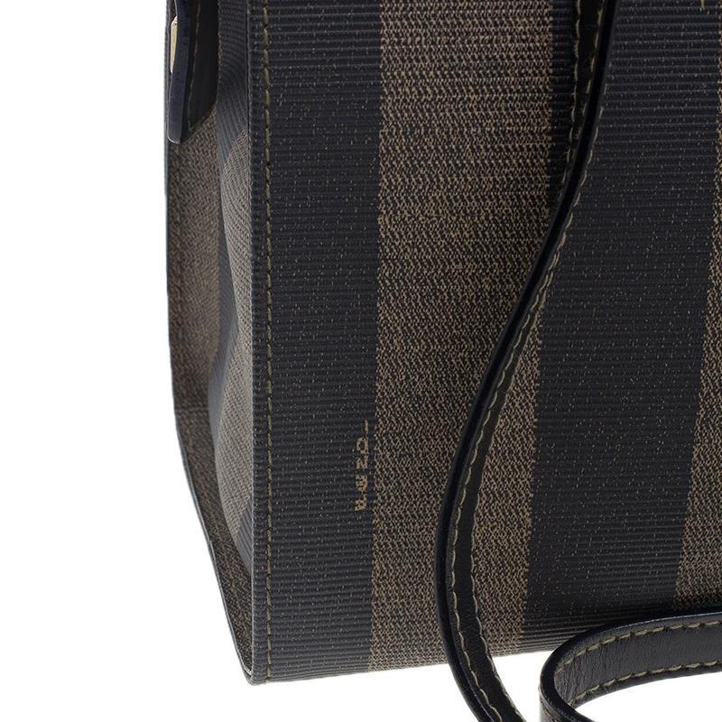 Fendi Black Pequin Tote Shoulder bag