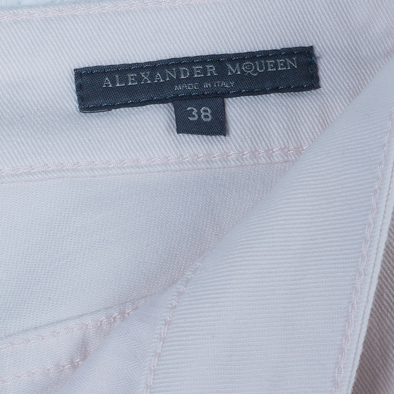 Alexander McQueen Light Pink Denim Jeans S