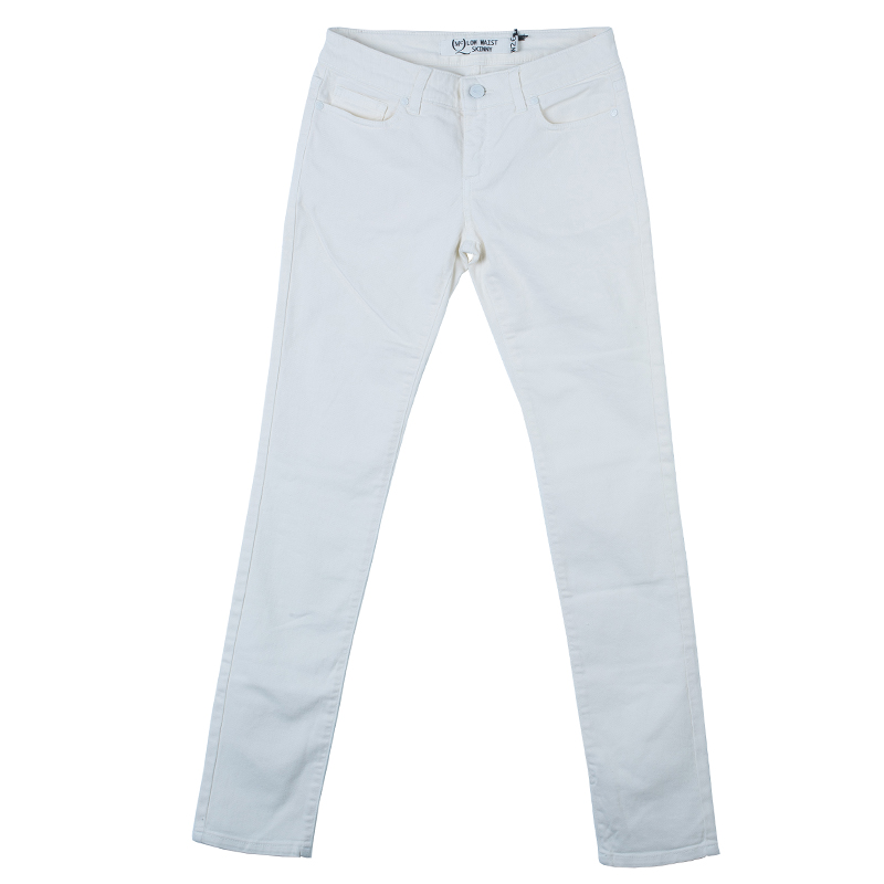 McQ By Alexander McQueen Off-White Low Waist Denim Jeans S