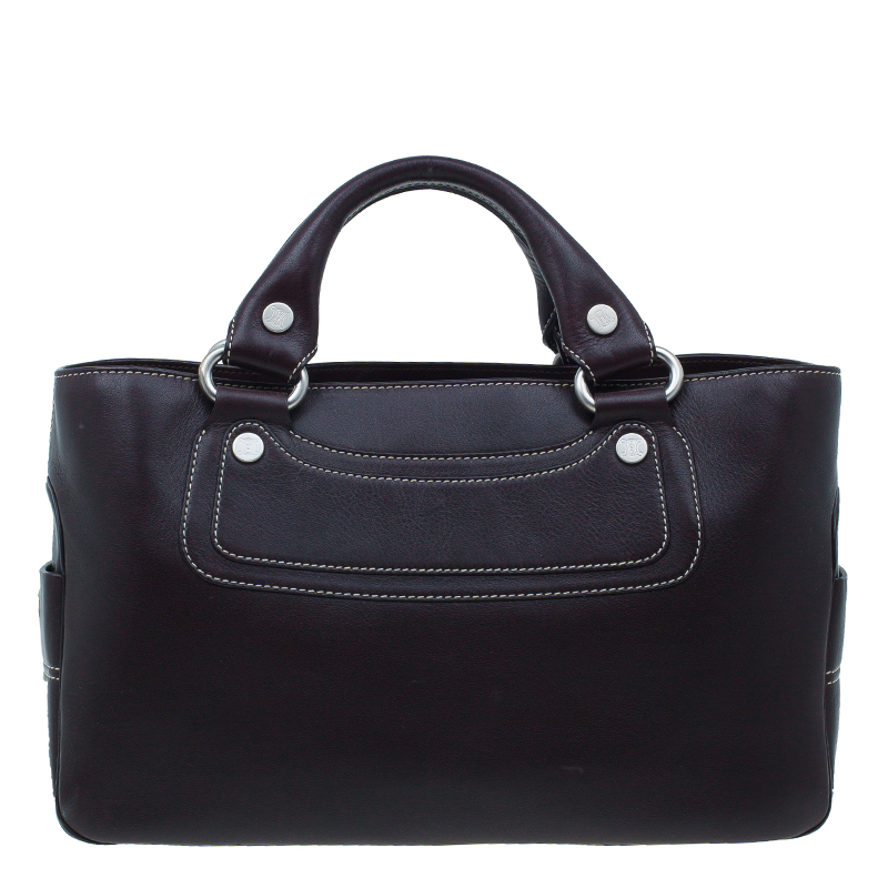 Celine Brown Leather Boogie Tote