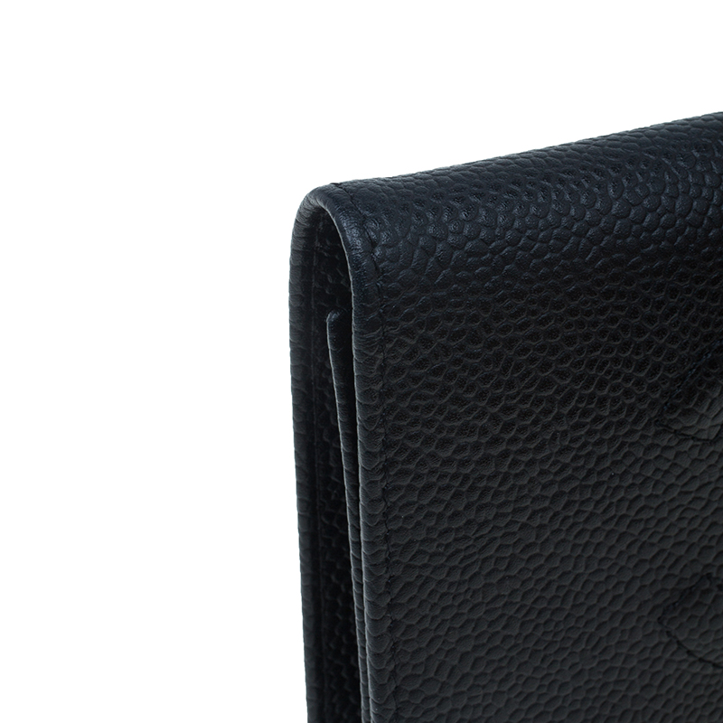 Chanel Black Caviar Leather CC Continental Wallet