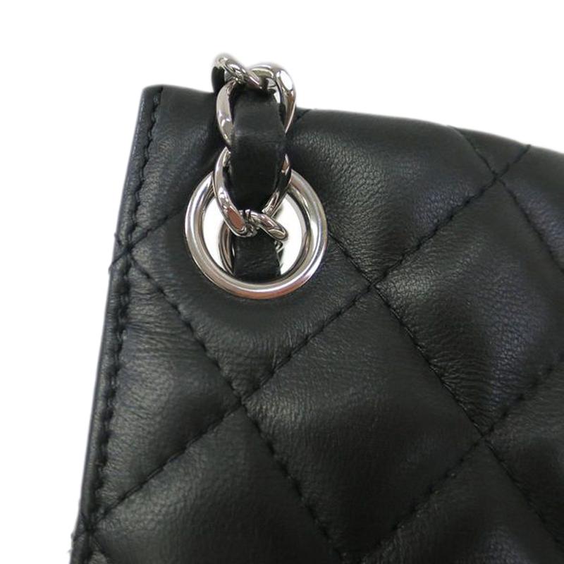 Chanel Black Lambskin Umbrella Case Single Flap Bag