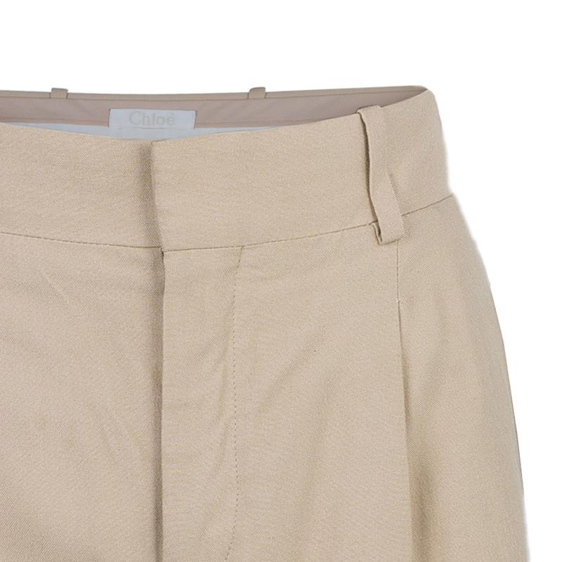 Chloe Beige Fluid Shorts L