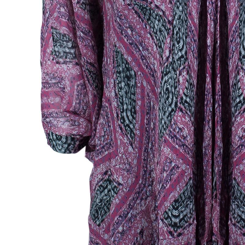 Diane Von Furstenberg Pink Fleurette Chiffon Dress L