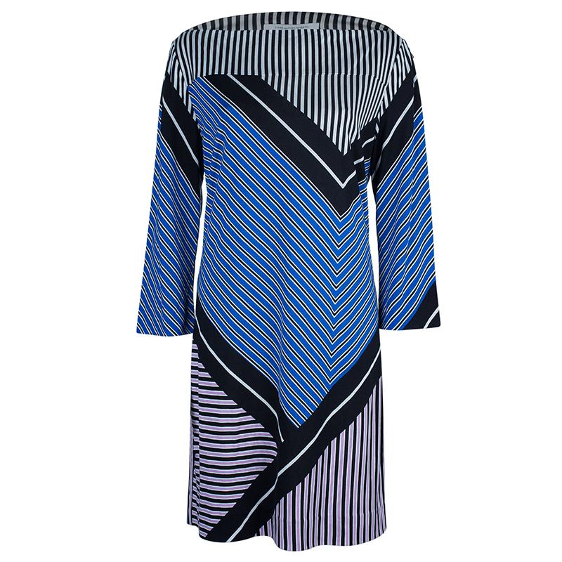 Diane Von Furstenberg Ruri Striped Shift Dress XL