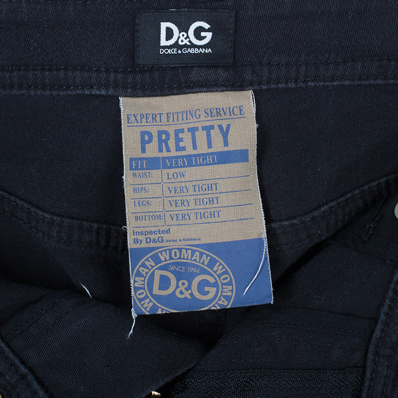 D and G Black Skinny Jeans S