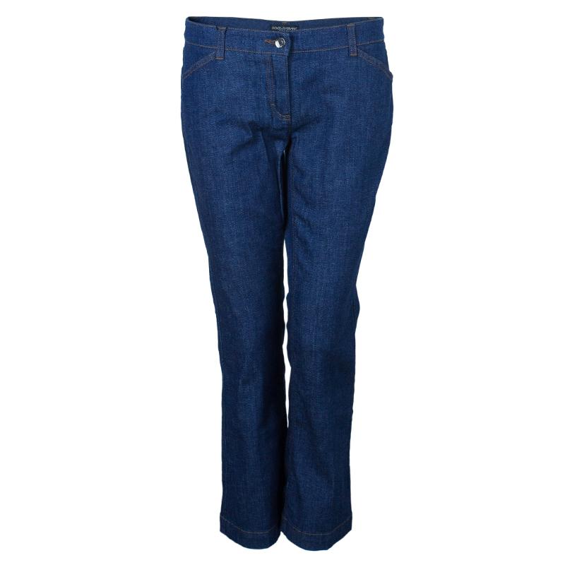 Dolce And Gabbana Wide Leg Denim Jeans M