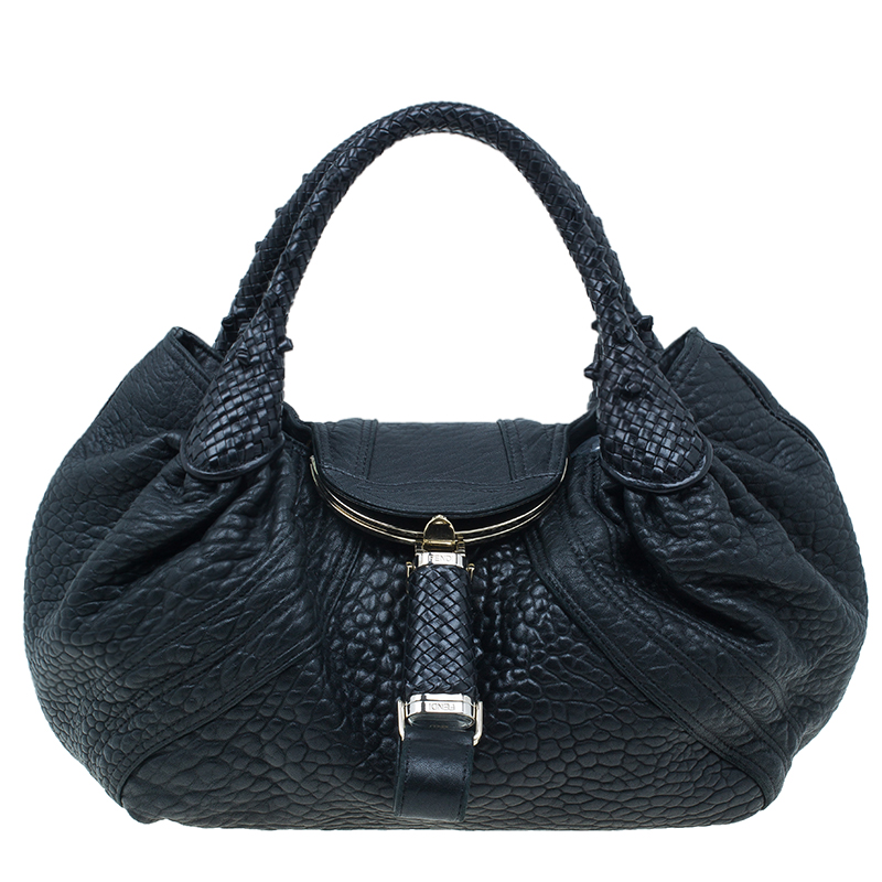 40ca6127d60 Buy Fendi Black Nappa Leather Spy Bag 1507 at best price   TLC