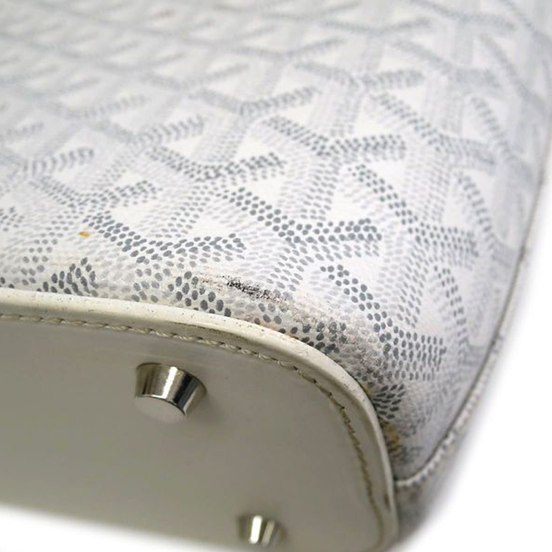 Goyard White Okinawa Canvas Tote