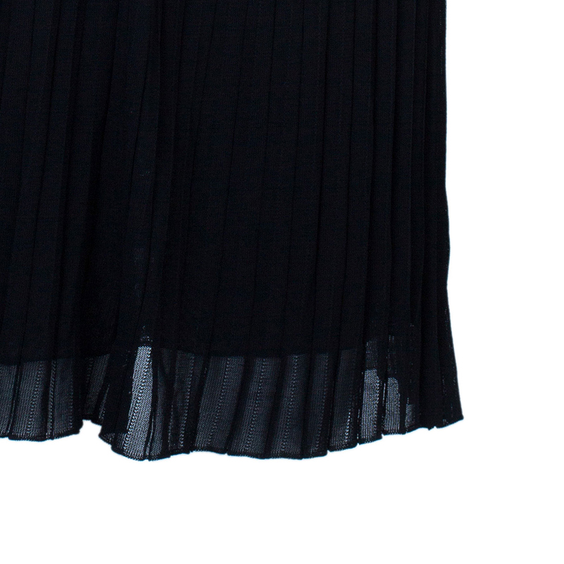 Gucci Black Halterneck Chiffon Dress S