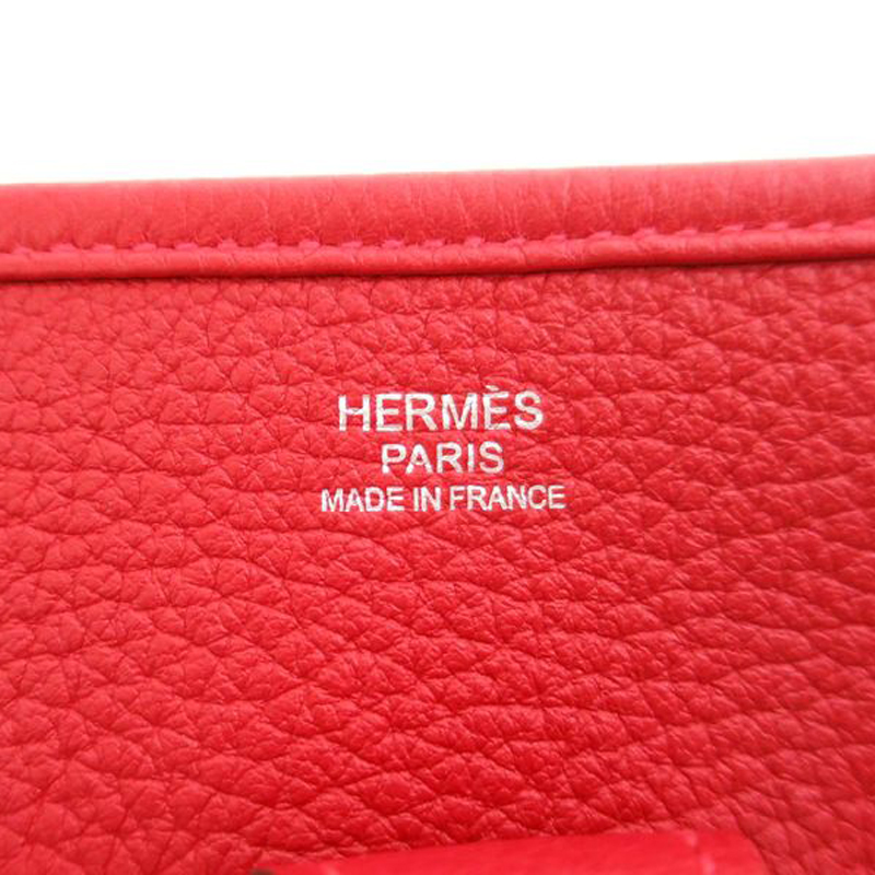 Hermes Rouge Casaque Togo Evelyne PM I