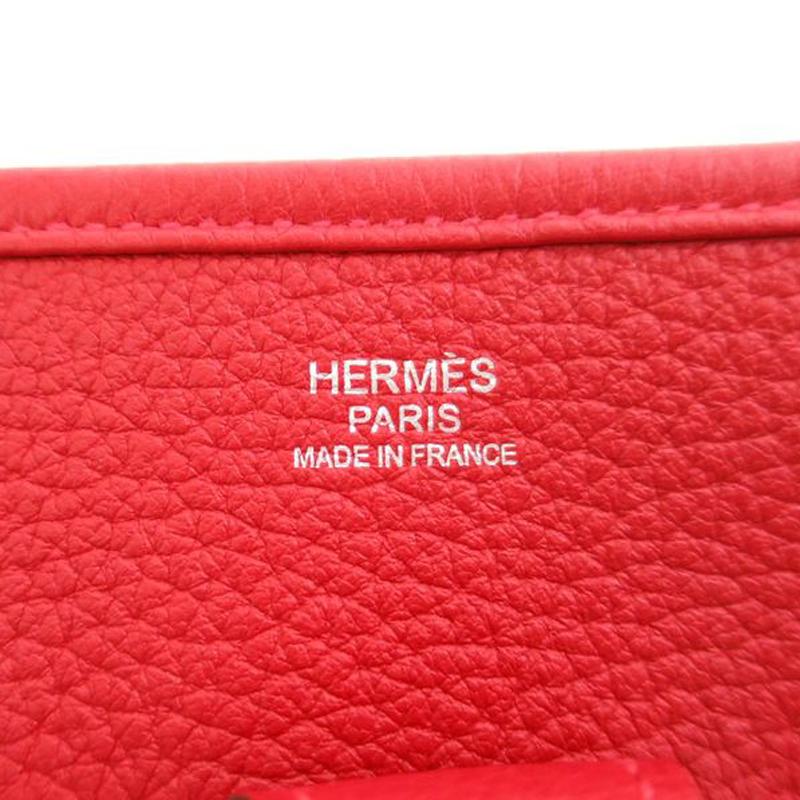 Hermes Rouge Casaque Togo Evelyne PM I