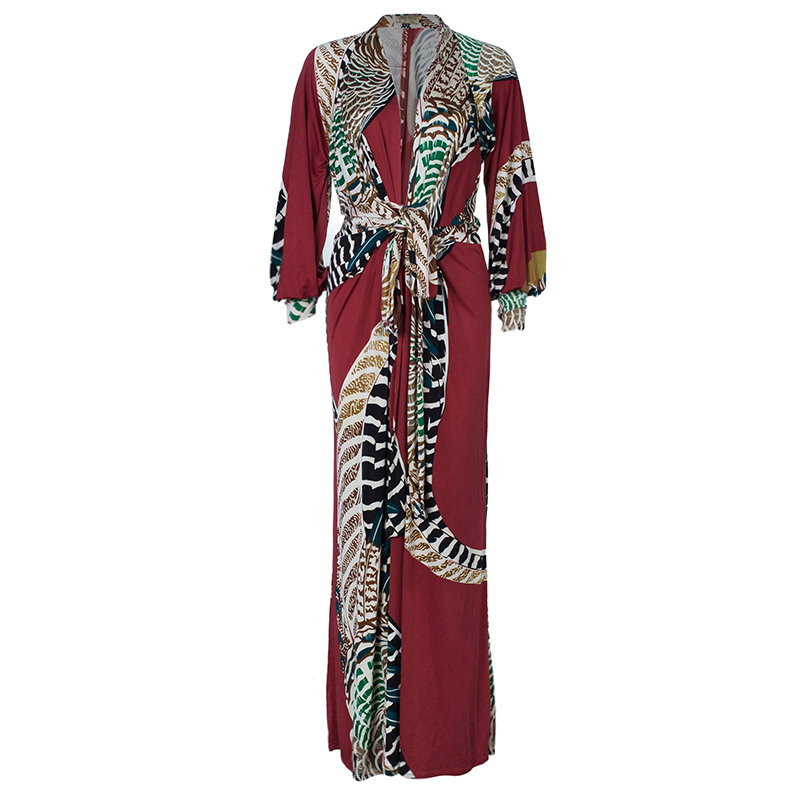 Issa Multicolor Tie-front Maxi Dress