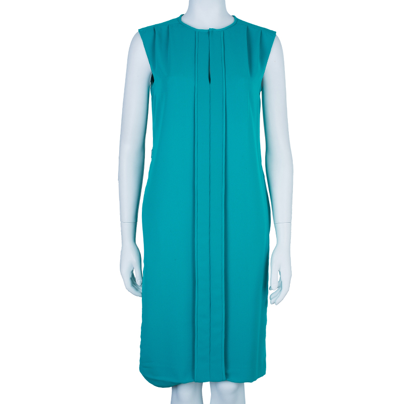 CH Carolina Herrera Blue Sleeveless Paneled Dress S
