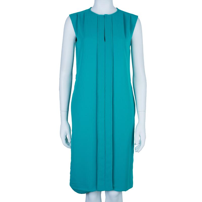 CH Carolina Herrera Blue Sleeveless Paneled Dress S