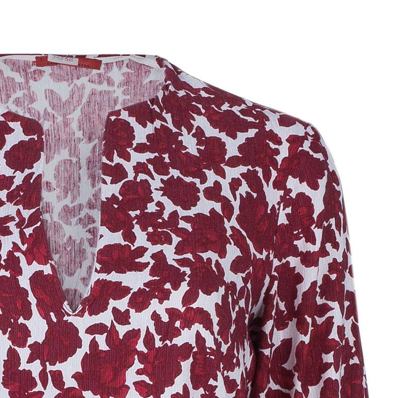 CH Carolina Herrera Red Floral Silk Dress S