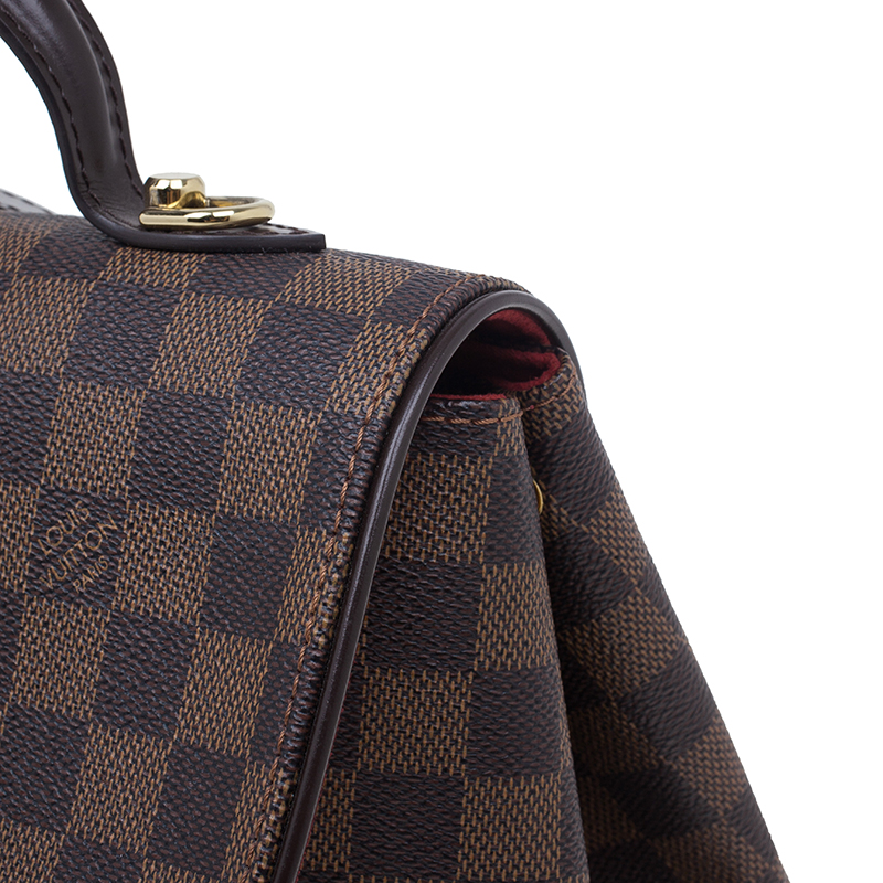 Louis Vuitton Damier Ebene Canvas Bergamo Satchel MM
