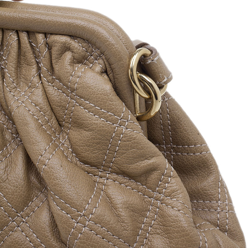 Marc Jacobs Nude Quilted Leather Little Stam Shoulder Bag