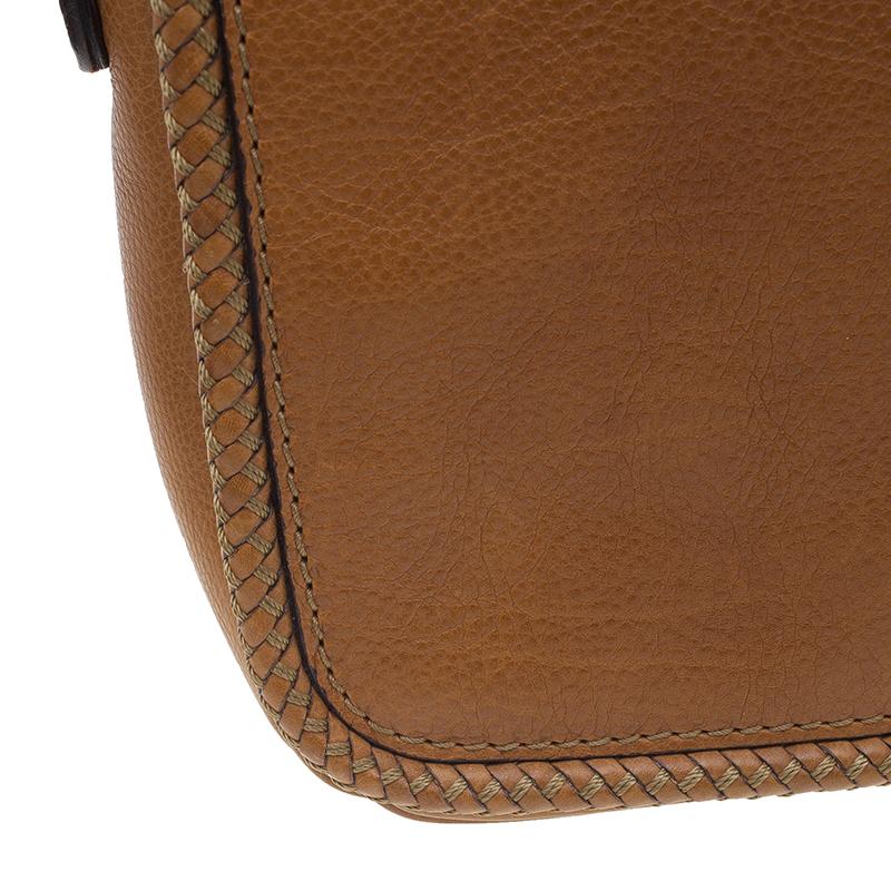 Gucci Tan Leather Medium Marrakech Flap Messenger Bag
