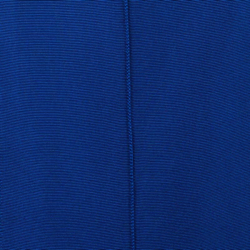 Lanvin Navy Grossgrain Slit-Front Top M