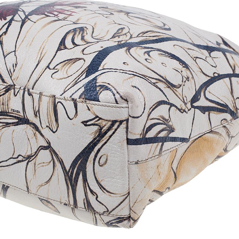 Prada Cream Leather Cervo Lux Fairy Tote